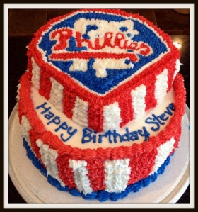 Phillies Birthday Cake
